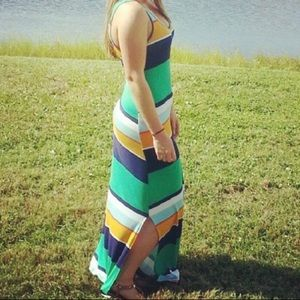 Multi color maxi dress- Small